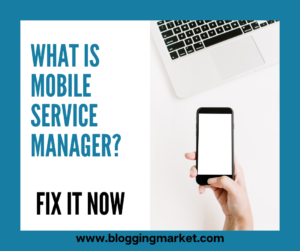 mobile service manager